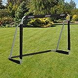 Relaxdays 男孩足球门,儿童及成人专业足球俱乐部,带球网,适用于花园,HBT 110 x 150 x 75厘米,灰色/黑色,110 x 150.00 x 75.00 厘米