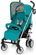德国品牌 hauck 轻便伞车-spirit蓝绿色(清仓/航空铝材车架/一脚双刹)(亚马逊自营商品,由供应商配送)