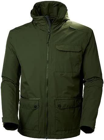 Helly Hansen 男式高地防水防风透气防雨夹克带可脱落兜帽 小号 绿色 62607_469-S
