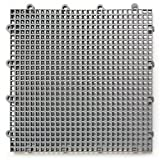 DuraGrid ST24GRAY 舒适瓷砖互锁模块化多用途*地板垫(24 件装),灰色,件