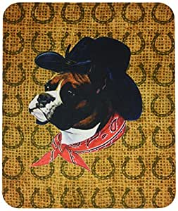 Caroline's Treasures Boxer Dog Country Lucky Horseshoe Mouse Pad/Hot Pad/Trivet (SP5230MP)