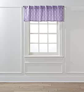 """Nanshing Alex 54 x 18 英寸杆套窗帘 - 54 x 18 英寸 紫色 54"""" x 18"""" ALEX-P-BOU-18"""