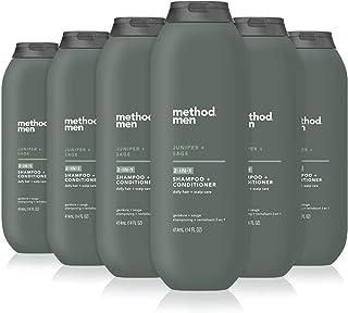 Method Men 2合1洗发露+护发素,杜松+鼠尾草,6件装 Juniper & Sage