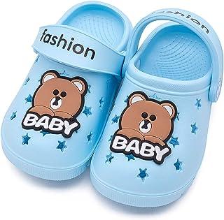学步男孩女孩夏季凉鞋防滑小孩运动拖鞋轻质沙滩水木底鞋淋浴池拖鞋