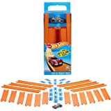 Hot Wheels Track Builder Straight Track with Car, 15 Feet - Styles May Vary热轮轨道建造系统赛