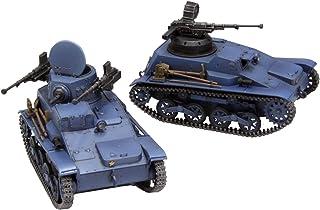 FineMolds 《Girls und Panzer Ribbon Warrior 少女与战车 丝带武者(中文版不*准确度)》 九四式轻装甲车 鬼队 Super Kai与无人炮塔规格 2个套装 1/35比例 塑料模型 41113