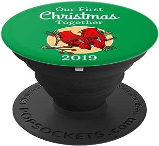我们的 First Christmas Together 2019 PopSockets 手机和平板电脑握架260027  黑色