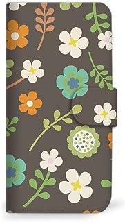 Mitas XPERIA 8 902SO 手机壳 手账型 花 花朵图案 花朵 灰色 (460) SC-0029-GY/902SO