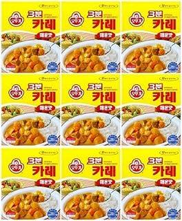 Ottogi 3分钟咖喱 辛辣味 韩国产品 各6.7盎司(200g):9包