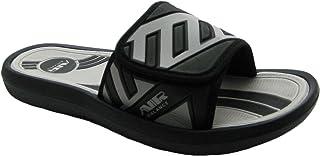 Air 男式舒适淋浴沙滩凉鞋拖鞋,带经典颜色的可调节鞋带