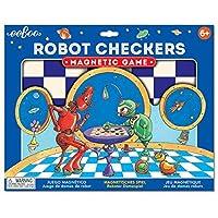 eeBoo 儿童磁性道路旅行棋盘游戏 Robot Checkers
