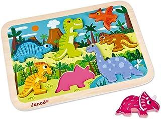 Janod 恐龙厚拼图