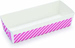 Welcome Home Brands Rectangular Loaf, Pink Stripe, 240 Pieces Per Pack