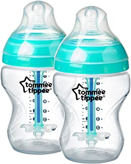 Tommee Tippee 亲近自然260毫升 / 9fl 盎司防胀气 PLUS 喂食瓶 (父 ASIN)