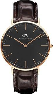 Daniel Wellington 丹尼尔·惠灵顿 中性腕表 - DW00100128,黑色/棕色,