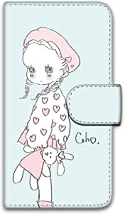 caho 保护套印花翻盖毛绒玩具和小女孩手机保护壳翻盖式适用于所有机型  ぬいぐるみと少女E 10_ Disney Mobile on docomo P-05D