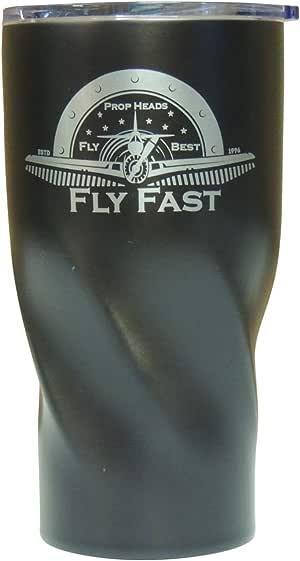 Airspeed Junkie Propheads 飞快真空绝缘杯 567 克 - 不含 BPA 不锈钢真空马克杯 可在户外旅行和健身房使用 黑色 中