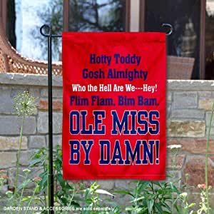 Mississippi Rebels Hotty Toddy 花园旗帜