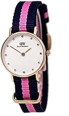 DanielWellington DW女表 镶钻尼龙带女士手表(瑞典品牌 保税区发货)(包邮包税)