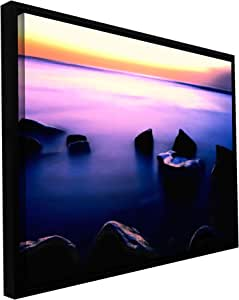 ArtWall Dean Uhlinger 'Pacific Afterglow' Floater Framed Gallery-Wrapped Canvas Artwork, 24 by 32-Inch, Holds 22.5 by 30.5-Inch Image