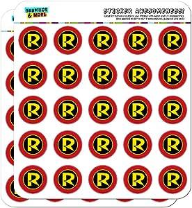 """蝙蝠侠罗宾符号记事本日历剪贴簿手工贴纸 不透明 50 1"""" Stickers SCRAP.STICK01.WBGAM009.Z004758_8"""