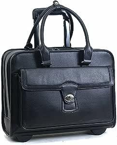 Samsonite(R) 女士轮式电脑手提包,黑色