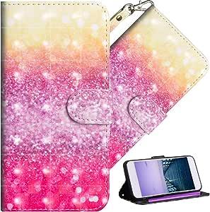 HMTECHUS LG V40 ThinQ 手机壳水钻闪光女士纤薄混合柔软 TPU 缓冲硬质 PC 防震保护壳适用于 LG V40