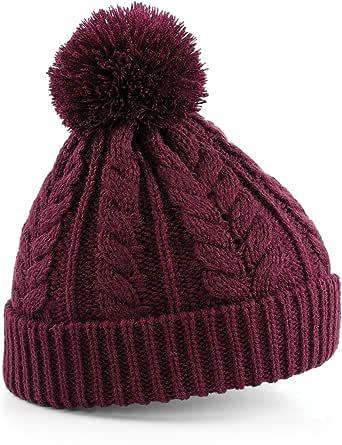 Beechfield 中性加厚针织雪星冬季无檐小便帽
