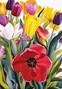 Toland Home Garden Tulip Garden 28 x 40 Inch Decorative Colorful Spring Summer Flower Floral House Flag
