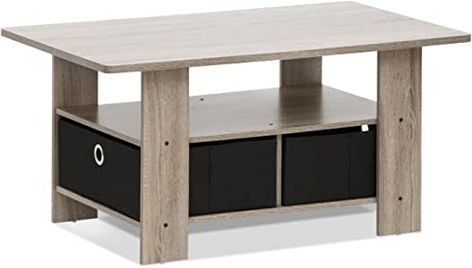 Furinno 11158EX/BR 带餐具的咖啡桌