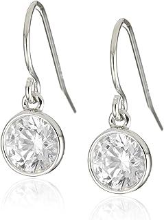 Myia Passiello Myia Passiello Infinity 银色圆形切割方晶锆石 2.74 克拉耳环