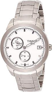 Tissot 男式 TIST0694394403100 钛金 GMT 手表