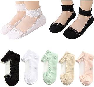 Kidstree 时尚夏季女孩短袜棉薄款幼童船袜 5 双