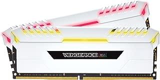 Corsair Vengeance RGB 16GB (2x8GB) DDR4 3000MHz C16 台式机内存 - 白色