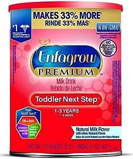 Enfagrow 美赞臣安儿宝 PREMIUM Next Step 幼儿配方奶粉,天然牛奶味,32盎司/907克(6件装),含Omega 3 (勺子在奶粉中)