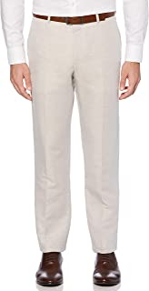 Perry Ellis 男式公文包现代修身亚麻混纺裤