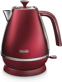 De'Longhi 德龙 Distinta Flair 电水壶 KBI2001 1.7 升 可拆卸的钙盐过滤器 Wasserkocher Glamour Red KBI2001R