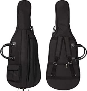 MI&VI 软壳大提琴包 - 加厚加垫结实防水背包带可调节背带、提手、蝴蝶结和床单口袋,配件比较 Cello 1/8