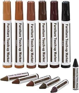 ALAZCO 全家用刮擦还原和维修系统及修补套装 - 6 蜡笔和 6 支毛毡尖马克笔 1包