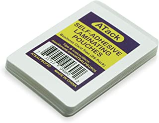 ATack 自动密封层压袋,名片尺寸,9.5 毫米和硬质自动层压名片袋(25 个装)