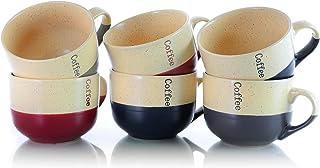 Elama Smooth 陶瓷马克杯套装,6 件,双色混色