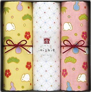 UCHINO Gift Collection INISHIE 古 兔子的松竹梅 ( 擦脸毛巾 × 3) 粉红色 F15445P