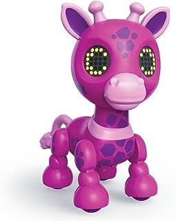 Zoomer Zuppies Safari,Gigi 互动式粉色长颈鹿,带灯光、声音和传感器