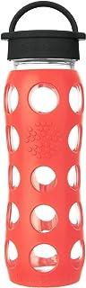 Lifefactory 玻璃水瓶 不含双酚A 带经典盖 保护性硅胶套 罂粟花 22 Ounce