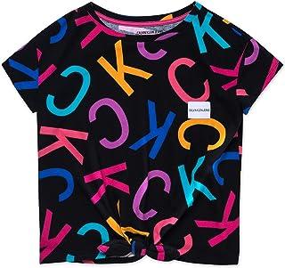 Calvin Klein 女孩大号印花图案T恤