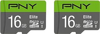 PNY 16GB Elite Class 10 U1 microSDHC 闪存卡 2 个装