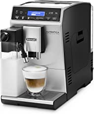De'Longhi 德龙咖啡机Autentica ETAM 29.660.SB全自动咖啡机(数码显示,独立牛奶系统,可拆卸水洗设计,一次萃取两杯咖啡)银色