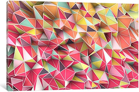 iCanvasART MXS8 Kaos Fashion by Maximilian San Comics Canvas Print, 12 by 8-Inch, 0.75-Inch Deep