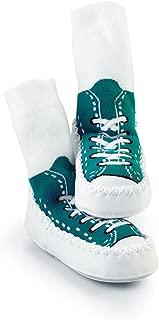 Mocc Ons 學步兒童軟幫式便鞋襪 Turquise 6-12 Months