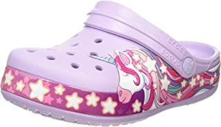 Crocs 儿童 Unicorn Band 洞洞鞋 | 幼儿、男孩、女孩一脚蹬水鞋